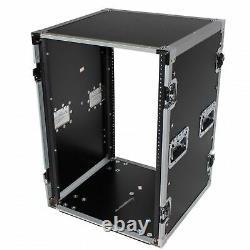 ProX XS-16R18W 16U Space Amp Rack Mount ATA Flight Case 18 Inch Depth W-Caste