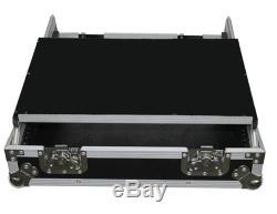 ProX XS-19MIX-LT 19 Inch Rack Mount Mixer Case with 10U Laptop Shelf