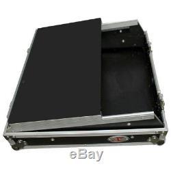 ProX XS-19MIXLT 10U Top 19 Slant Rack Mount DJ Case with Sliding Laptop Shelf