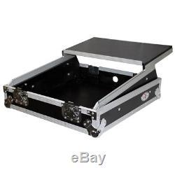 ProX XS-19MIXLT ATA 300 Heavey Duty Case 19 Mixer Case with 10U Top Mount+Shelf