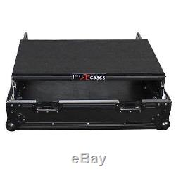 ProX XS-19MIXLTBL 10U Top Mount 19 Slanted Mixer Case, Black on Black