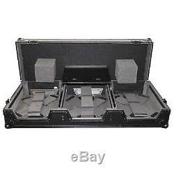 ProX XS-CDM1012WLTBL 4-Channel Mixer & 2x CDJ DJ Coffin Case, withwheels in black
