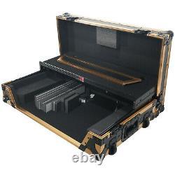 ProX XS-DDJ1000WLTFGLD LED Flight Case for Pioneer DDJ-1000SRT & DDJ-SX3 & FLX6