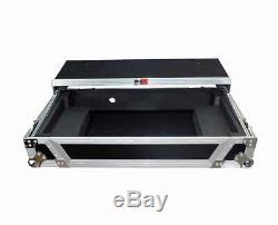 ProX XS-DDJSX WLT Pioneer DDJ-RX DDJ-SX2 or SX3 Case with Laptop Shelf & Wheels
