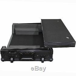 ProX XS-DDJSX-WLTBL All Black Pioneer DDJ-SX Hard Case With Sliding Laptop Shelf