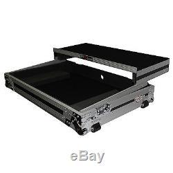 ProX XS-DDJSXWLT Pioneer DDJ-SX DJ Controller Flight Case Glide Shelf Wheels