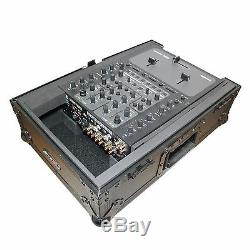 ProX XS-M10BL Mixer Case for Large Format 10 DJ Mixers in Black On Black