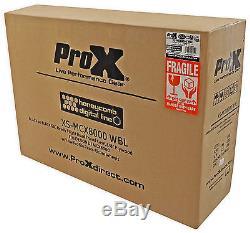 ProX XS-MCX8000WBL Hard Flight Road Case Fits Denon MCX8000 With Wheels Black
