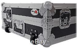 ProX XS-MCX8000WLT Hard Flight Case 4 Denon MCX8000 With Glide Laptop Shelf+Wheels