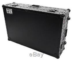 ProX XS-MCX8000WLTBL Hard Flight Case 4 Denon MCX8000+Glide Laptop Shelf+Wheels