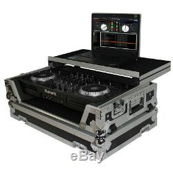 ProX XS-MIXDECKWLT Numark MixDeck Quad Controller Case with Laptop Shelf & Wheels