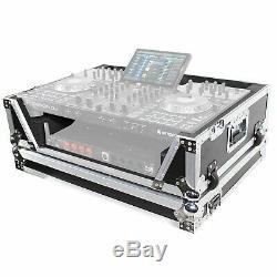 ProX XS-PRIME4 W2U Flight Case for Denon Prime 4 DJ Controller with 2U Rackspace