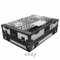 ProX XS-PRIME4 WGB Denon PRIME4 Case With Wheels Gray on Black Dual Anchor Rivets