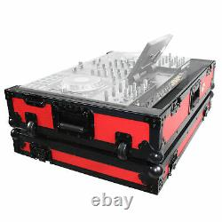 ProX XS-PRIME4 WRB Denon PRIME4 Case With Wheels Red on Black Dual Anchor Rivets