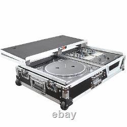 ProX XS-TMC1012WLT Single Turntable & Mixer Flight Case WithLaptop Shelf & Wheels