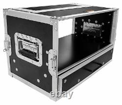 ProX XS-WM4U2DR 4U Rack Case with 4U Rack Drawer For 19 Amps/Mixers/Mic Receiver