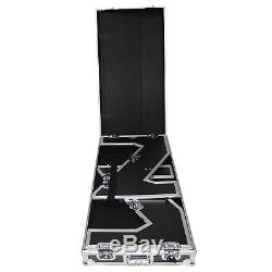ProX XS-ZTABLE Folding Portable Z-Style DJ Table Flight Case w handles & wheels