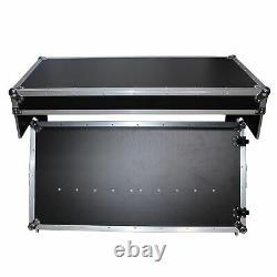 ProX XS-ZTABLE MK2 DJ Z-Table Ultimate Workstation Flight Case Table Port