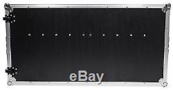 ProX XS-ZTABLE Portable Z-Style DJ Table Flight Case withHandles+Wheels