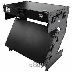 ProX XS-ZTABLEBL JR Portable Z-Style DJ Table Flight Case w Handles Wheels Black