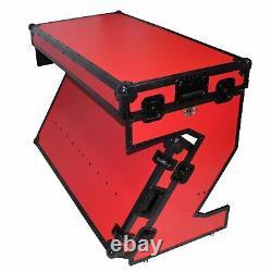 ProX XS-ZTABLERB MK2 DJ Z-Table Workstation Flight Case Table Portable W-Ha