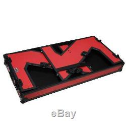 ProX XS-ZTABLERB Portable Z-Style DJ Table Flight Case w handles & wheels in Red