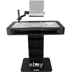 ProX XZF-DJCT BL Black Control Tower DJ Controller Booth Podium Stand & Cases