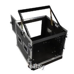 Professional 12 Space Rack Case WithSlant Mixer Top DJ Mixer Cabinet +4Pcs Casters
