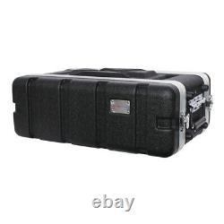 Protex 3U Short ABS Rack Case Flightcase Radio Microphone Effects Studio PA Band