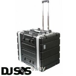 Pulse ABS-8UTR 19 7U Rack Flight Case Trolley with Wheels & Pull Out Handle