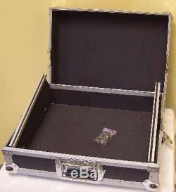 ROADINGER Mixer-Case Profi MCB-19, schräg, sw, 8,5 HE 19 Mischpult Mischer Case