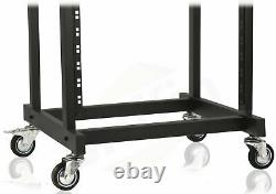 Rack Mount Cart Stand Rolling Studio Mixer Gear Pro Audio IT Server Holder Case