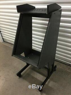 Recording studio equipment rack