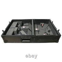 Road Case (All Black) for DJ Single Turntable In Battle Mode & 10 or 12 Mixer