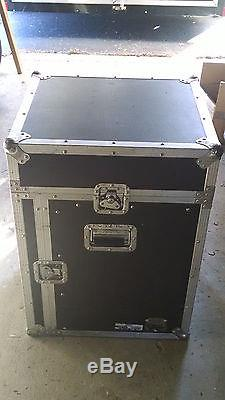 Road Ready 14 space Mixer Slant Rack Roadie Case DJ Equipment