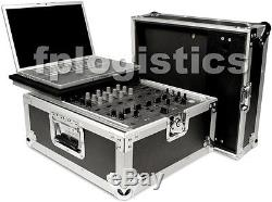 Road Ready RRL12MIX ATA Flight Case for 12 DJ Mixer with Laptop Stand NEW