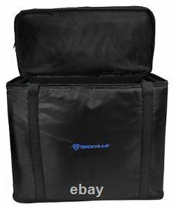 Rockville RRB55 5U Rack Bag Double-Sided Case with 16 Depth + Shoulder Strap