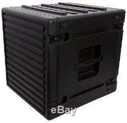 SKB 1SKB-R12U 12U 12-Rack Space Ultimate Strength Black Molded Roto Rack Case
