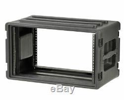 SKB 1SKB-R6S Portable Roto Molded 6U Shallow Rack PROAUDIOSTAR