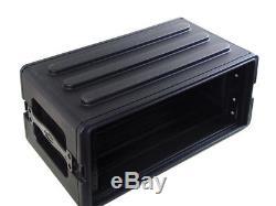 SKB 3 Space Plastic Molded DJ Guitar Amplifier Rack Road Case