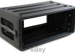 SKB 4 Space Plastic Molded DJ Guitar Amplifier Rack Road Case
