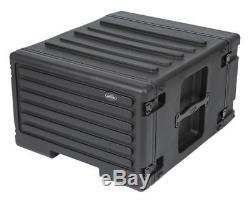 SKB 6 Space Amp / Effects Rack Case withwheels, Pull Handle 1SKB-R6UW