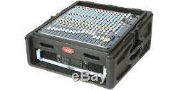 SKB MOLDED 10U TOP, 2U MIXING BOARD TOP MIXER CASE RACK MOUNT for QSC AMP, EQ