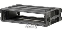 SKB MOLDED 2U SHALLOW RACK MOUNT CASE for MIXER, EQ, EFFECTS, AMP, DJ or KARAOKE