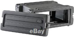 SKB MOLDED 4U RACK MOUNT CASE with WHEELS for MIXERS, EQ, EFFECTS, POWER AMPS DJ