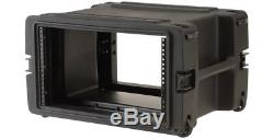SKB MOLDED 6U RACK MOUNT CASE with WHEELS for MIXERS, EQ, EFFECTS, POWER AMPS DJ