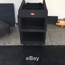 SKB Mighty GigRig Rolling Rack for Mixers+SKB 6U Expander case $495. For both