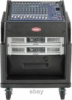 SKB Portable Rolling Rack Case for Audio Power Amps, Effects & Mixer
