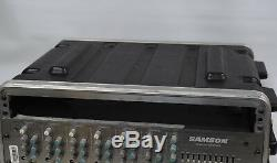 Samson S6 6 Channel Mixer Amplifier Rack mounted in case
