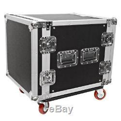Seismic Audio 10 SPACE RACK CASE Amp Effect Mixer PA/DJWheel/Casters